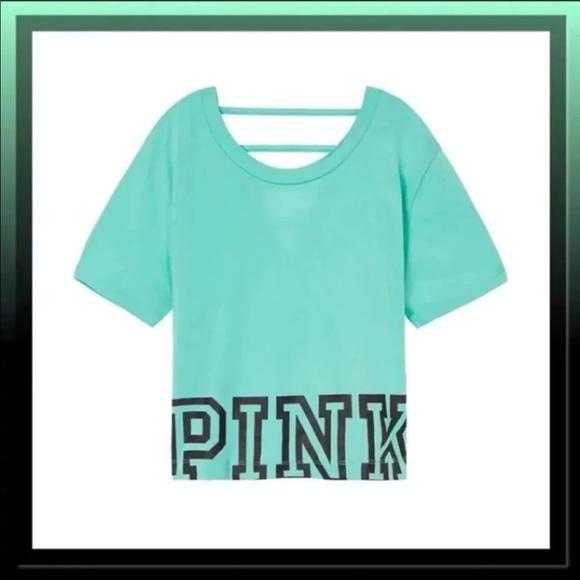 PINK Victoria's Secret Tops - Victoria Secret Pink Oversized Crop Top